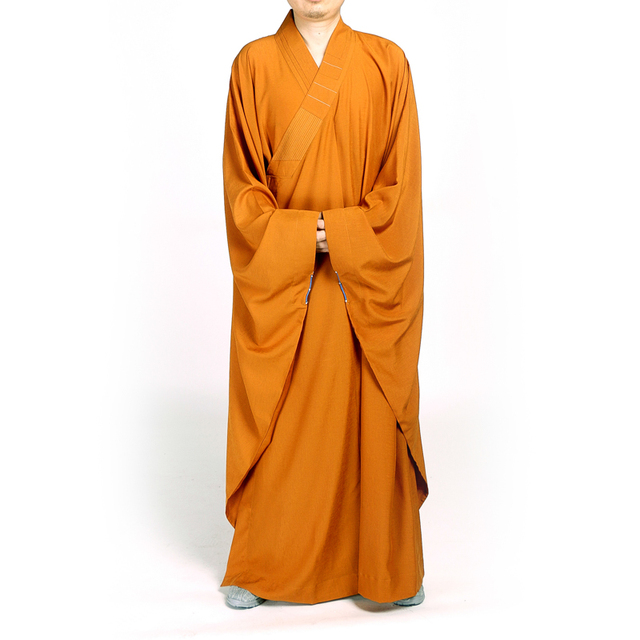 bc0f4aee0e Festival ceremony costume Buddhism Monk Robes Yellow Cotton High-end  Cutomized Meditation Lay Gown Bonze Religious Frock