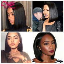 8A Lace Wig Indian Silky Straight Full Lace Human Hair Bob Wig Glueless Short Wig 150% Density Virgin Lace Front Wig Fashion Bob