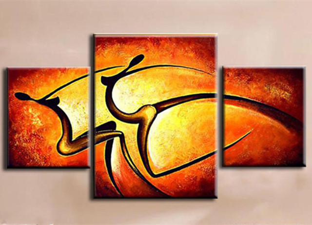 3 Piece Picture Modern Home Decor Wall Art Hand painted Abstract ...