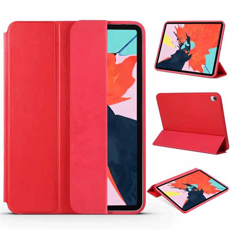 Original 1:1 Smart Magnetic Case For New IPad Pro 11 2018 Ultra Slim PU Leather Tri-fold Stand Cover For IPad Pro 11 Inch+3 In 1