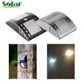 Lo nuevo de acero inoxidable de luz solar pir motion sensor luces led calle lámpara solar powered jardín al aire libre lámparas de pared