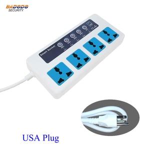 Image 3 - Interruptor de potencia inteligente con Control remoto, inalámbrico, SMS, GSM, caja de enchufe clavija para, controlador, relé de 4 canales con Sensor de temperatura