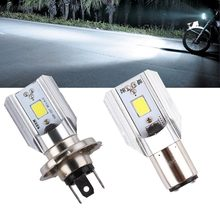 H4 H6 Led Motorcycle Headlight Bulbs COB Led 1000LM BA20D Hi Lo Lamp Scooter ATV Moto Accessories Fog Lights For Suzuki(China)