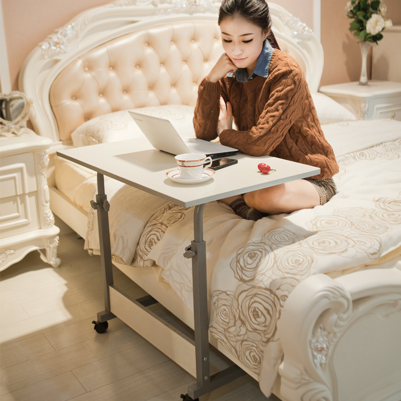 Simple Movable Writing Desk Lifted Household Bed Laptop Table Multifunction Adjustable Computer Desk Stable Staff Office Desk
