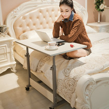 Simple Movable Writing Desk Lifted Household Bed Laptop Table Multifunction Adjustable Computer Desk Stable Staff Office Desk(China)