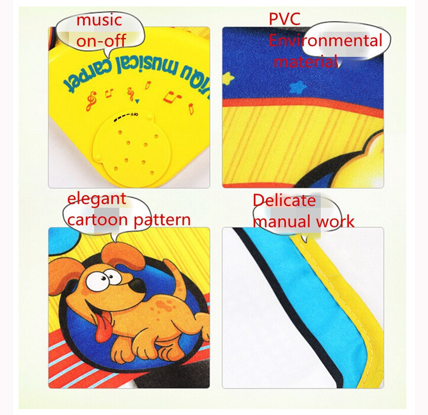 Music Game Piano Mats Touch Type Electronic Multifunction Baby Play Crawling Animal Sounds Sings Best Toys for KidsWJ309 in Play Mats from Toys Hobbies