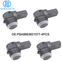 4pcs PDC Parking Sensor For Peugeot Citroen 307 308 407 Rcz Partner C4 C5 C6 PSA9663821577
