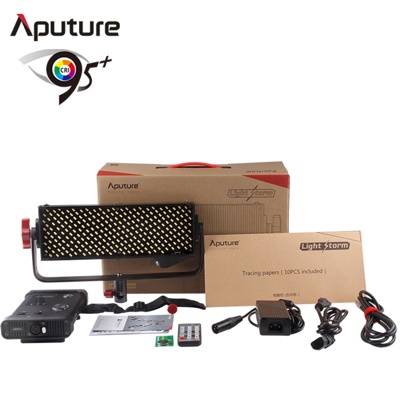 Aputure LS 1/2W High CRI 98 Light Storm 264 SMD LEDs Studio Video Light LED Photo Light with Wireless Remote Anton Bauer Mount