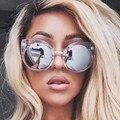 Design da marca cat eye sunglasses mulheres marca designer vintage óculos de sol retro espelho óculos de sol óculos de sol para as mulheres óculos de sol das senhoras do sexo feminino