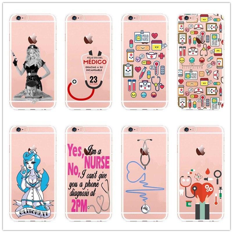 Fashion Spanyol Lucu Kartun Obat Perawat Dokter Gigi Untuk Iphone     Plus Xs Xr Max Lembut Silicone Tpu Clear Cover Di Telepon Pouch Dari