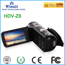 Super 24mp full hd 1080p digital video camera HDV-Z8 5.1M CMOS USB 2.0/TV/MSDC/HDMI output portable china pro digital camcorder