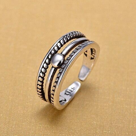 Женское Винтажное кольцо в стиле ретро серебристого цвета