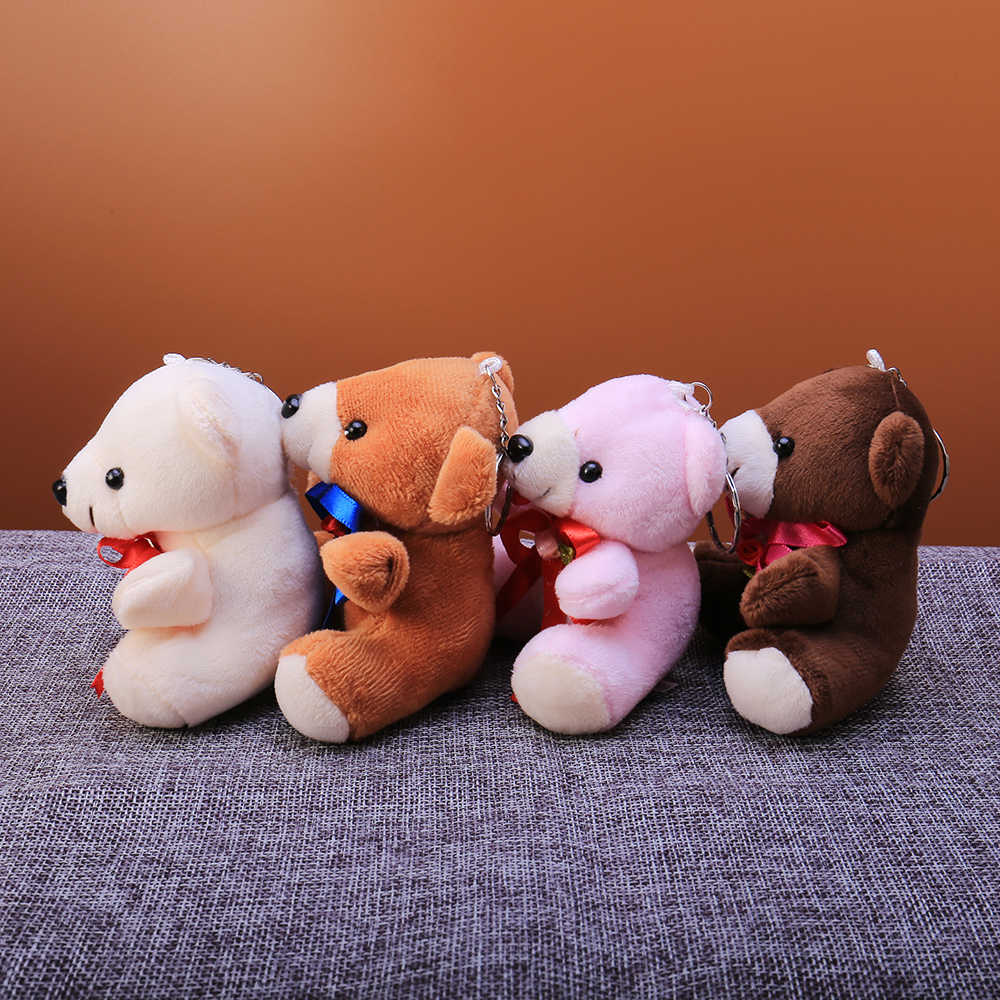 Keychain bonito Linda Principais Animais Urso Chaveiro Mulheres Meninas Charme Saco Pompom De Pele Falsa de Carro Chaveiro de Presente Da Jóia 2019