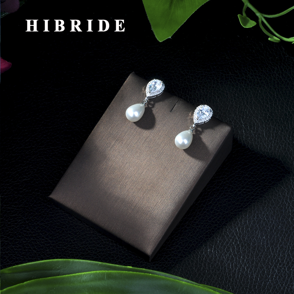 HIBRIDE Jewelry Natural Pearl Earrings Cheap Price Wholesale Drop Earring For Women Wedding Party Gifts E-58