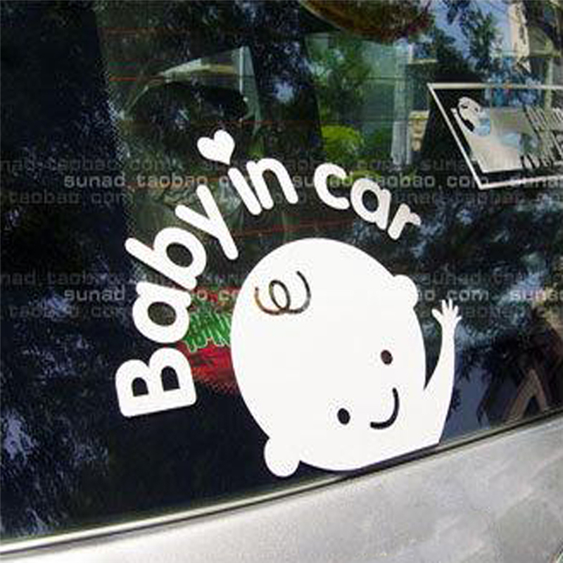 Baby In Car Waving Baby on Board Safety Sign Car Decal / Sticker-0704 fashion hot sale take your body n# dropship