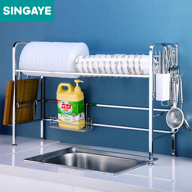 Singaye Dish Rack Set 304 Stainless Steel Kitchen Shelf Plate Dish