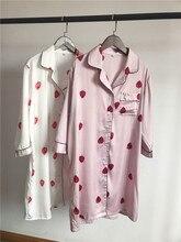 Casual Ladies Sleep Tops Short Sleeve Print Silk Stain Night Dress Plus Size Nightie Sleepwear Shirt Women's Night Fit 70kg New