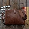 A moda pequenos homens de cavalo louco sacos de ombro dos homens saco do mensageiro do vintage ocasional pequeno saco retro sacos crossbody satchel