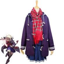 926a4aba634e6 FGO Kader Büyük Sipariş Kılıç Gizemli Kahraman X Alter Sailor takım kıyafet  Ceket Ceket Üniforma Kıyafet Anime Cosplay Kostümler.