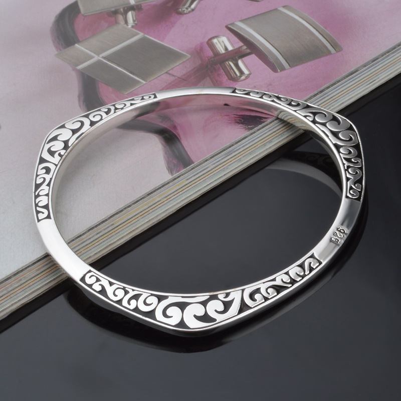 925 Tibet silver viking bracelets & bangles Round Triangle flower - Fashion Jewelry - Photo 4