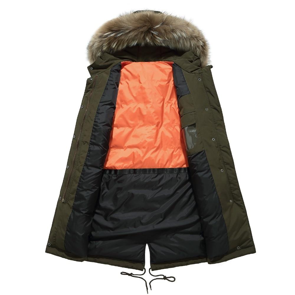 Kleidung Warme Männer armee Winterjacke Mantel Tops Veste Top Fell grün Outwear Verdicken Herren Kapuze Casual Mäntel Schwarzes Marke Parka Homme gqP0P
