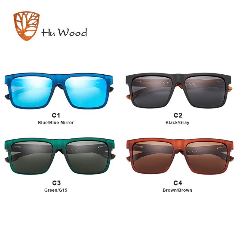 Image 4 - Hu Wood  2018 New High Quality Square Sunglasses Men Polarized UV400 Fashion Sunglass Mirror Sport sun glasses  Driving oculos-in Men's Sunglasses from Apparel Accessories