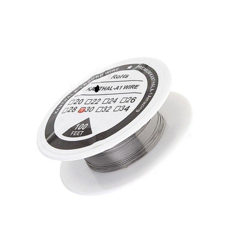 aolvape 100 feet Resistance heating wire ka1 Rebuildable diy coil rda tank by kathal a1 kanthals awg 24 26 28 30 32 34 38ga цены