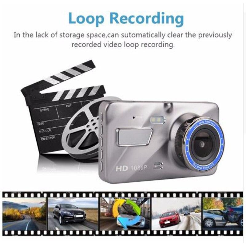 Регистраторы Двойной объектив Видеорегистраторы для автомобилей Камера Full HD 1080p 4