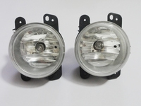 1Pair Clear lens halogen fog lights fog lamp driving lamps with bulb For Jeep wrangler 2007 2011