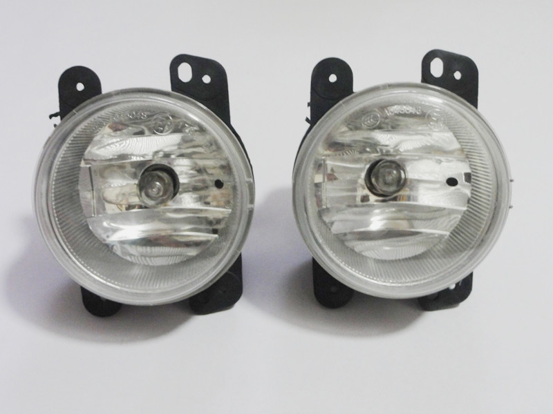 1Pair Clear lens halogen fog lights fog lamp driving lamps with bulb For Jeep wrangler 2007-2011 1pair clear lens fog lights bumper driving lamps with bulbs for nissan altima sedan 2007 2012