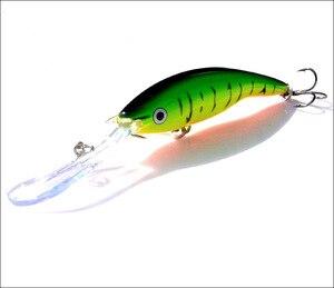 Image 5 - 2 adet uzun dil zoka yapay balık 14g 13.5cm sert yem yüzen Crankbait Pesca Topwater Wobblers balık olta takımı