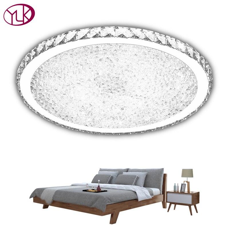 Youlaike Modern Led Ceiling Lights For Living Room Bedroom Study Room Crystal lustre plafonnier Home Deco