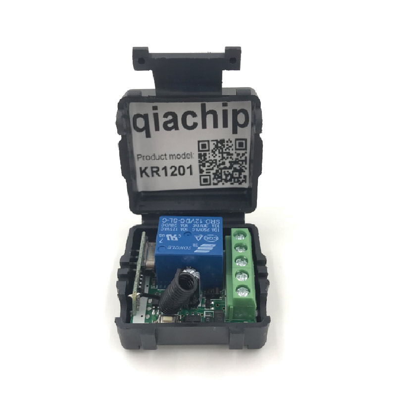 Qiachip-433Mhz-Universal-Wireless-Remote-Control-Switch-DC-12V-1CH-relay-Receiver-Module-RF-Transmitter-433 (3)