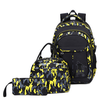 Laptops For Children | New Arrived Camouflage 3 Pcs/set School Backpack For Teen Boys Durable Children School Bags Laptop Backpack Travel Bags Mochila
