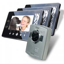 1V3 7 Inch TFT Digital Color Hands-free LCD Monitor 1/3 CMOS Night Vision Camera Video Door Phone