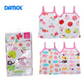 5 pieces 2T-3T DANROL Summer Baby Vest Girls Cotton Printed Sleeveless Tanks Newborn Infants Camisoles Cartoon V20