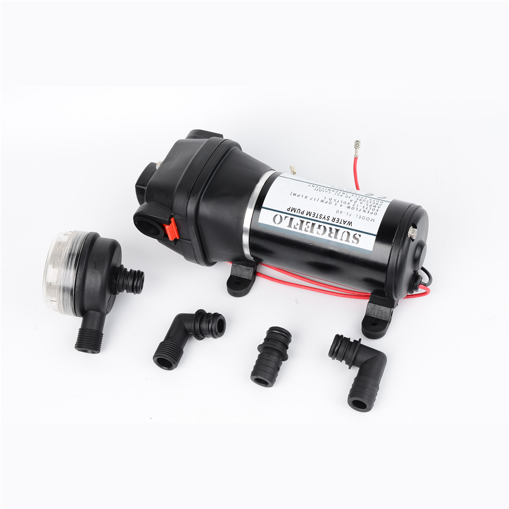 DC 12V/24V 180W 40PSI(2.8Bar) Lift 25m Low Pressure Electric Diaphragm Pump Irrigation Motorhome Car Water Supply FL-40 FL-44 fl 40 fl 44 12v 24v dc mini submersible low electric diaphragm pump 25m lift high pressure water pumps self priming