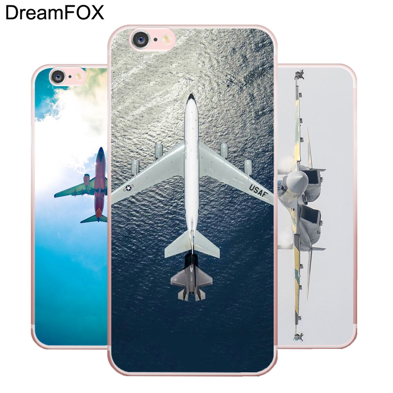 DREAMFOX L224 Plane Soft TPU Silicone  Case Cover For Apple iPhone X XR XS Max 8 7 6 6S Plus 5 5S SE 5C 4 4S