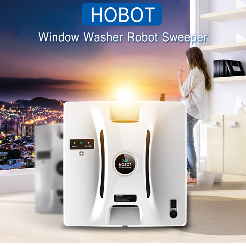 HOBOT Window Vacuum Cleaner Window Cleaning Robot High Suction Anti-Falling Remote Control Wet Dry Wiping Washer Sweeper Z25 цена и фото