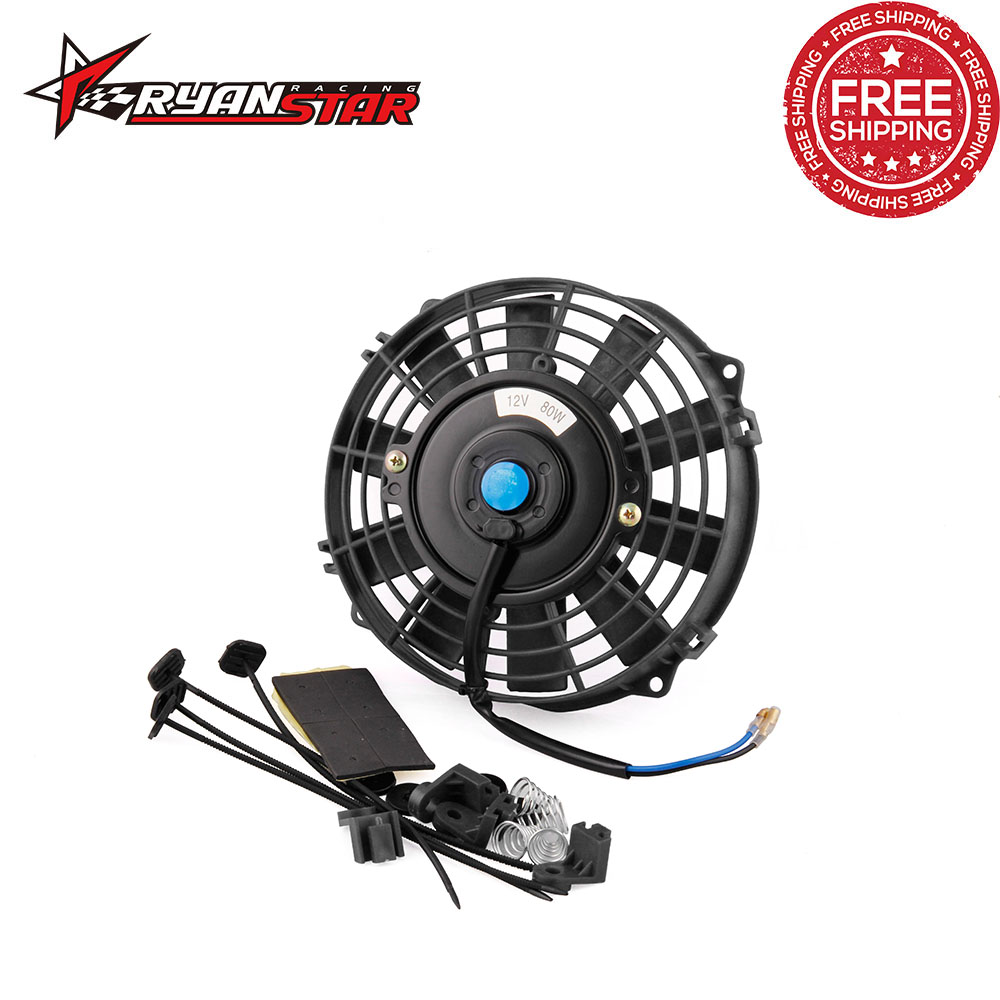 Detail Feedback Questions About Free Shipping 80w Electric Radiator Cooling Fan Kit 7 Inch 12v For Universal Car Cf001 On Aliexpress Alibaba Group