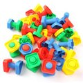 JingQi plastic toy baby birthday gift  screw nut matching game shape building block educational blocks 10 pairs free shipping