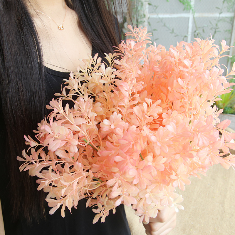 10 pcs pink plastic melon grass artificial flowers leaves home 10 pcs pink plastic melon grass artificial flowers leaves home wedding bouquet decoration fake plants wholesale in artificial dried flowers from home mightylinksfo