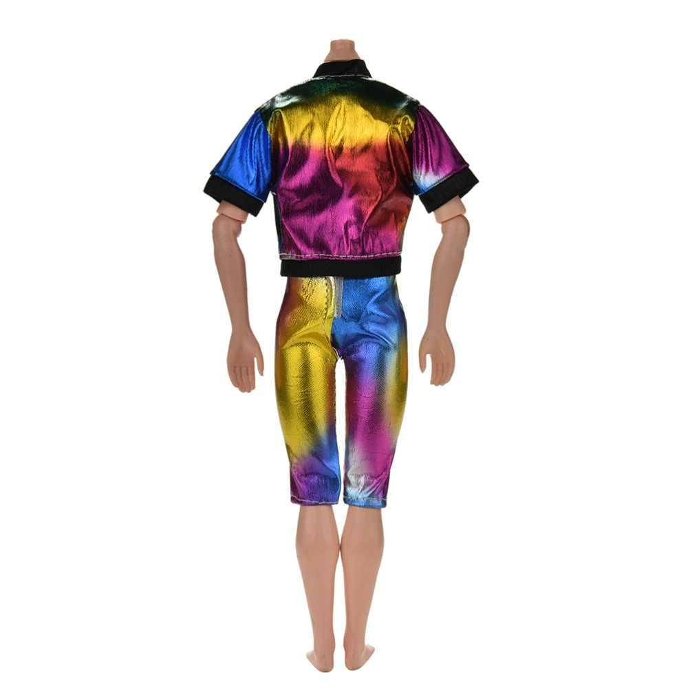 Pizies 1 ชุด = 2 Pcs ตุ๊กตาชายชุดแฟชั่นสีสันสดใสเสื้อ + กางเกงสำหรับ Ken ตุ๊กตาอุปกรณ์เสริม
