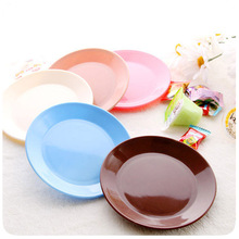 colourful tableware small dishes Snacks melon seeds flat chassis Circular barbecue snack plate bone plate multi-function dishes