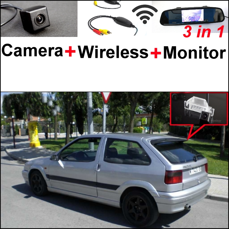 3 in1 Special Camera + Wireless Receiver + Mirror Monitor DIY Back Up Parking System For Citroen ZX 1991~1998 wireless pager system 433 92mhz wireless restaurant table buzzer with monitor and watch receiver 3 display 42 call button