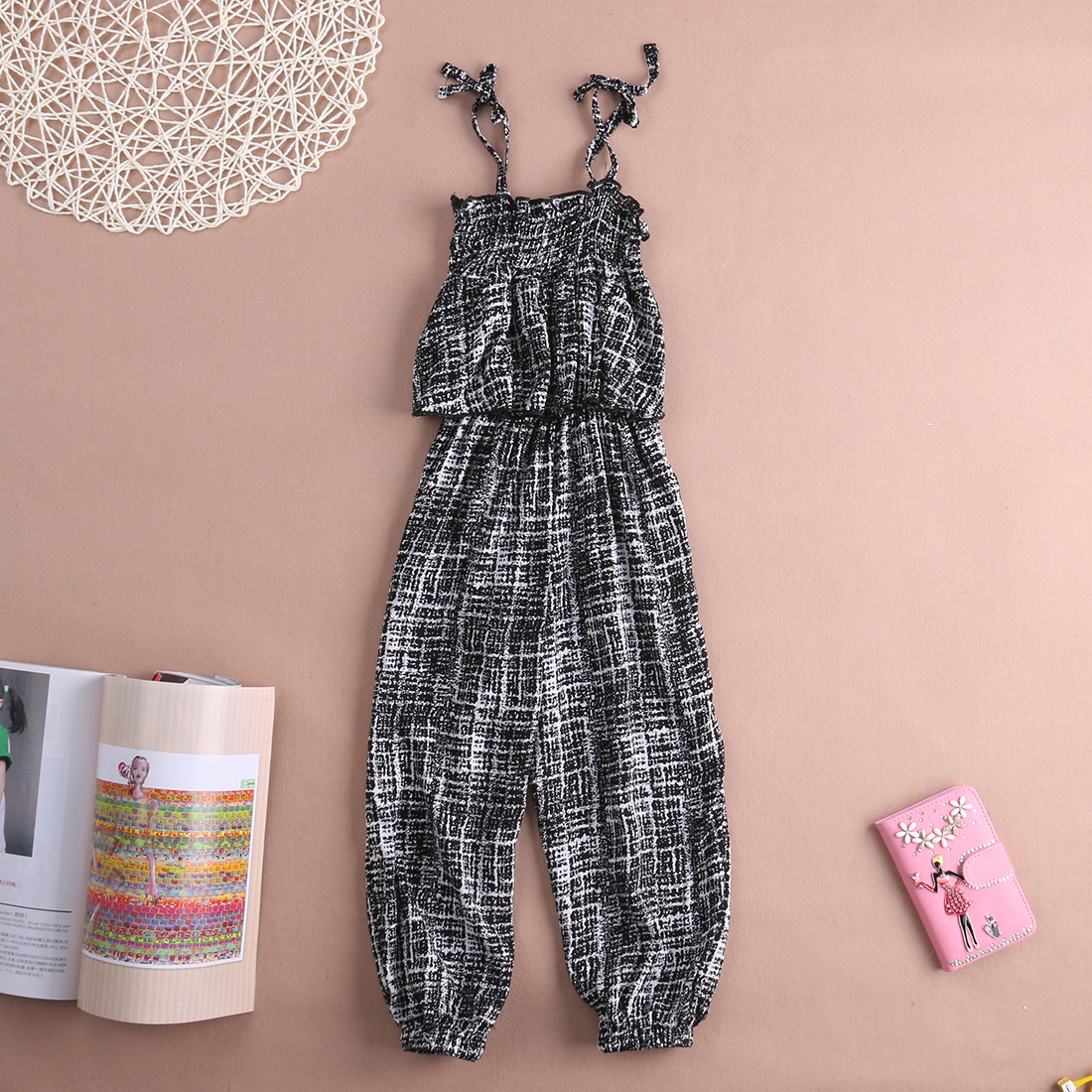 1ed6a30c638b Stylish Kids Baby Girls Backless Overalls Striped Black Romper Jumpsuit  Playsuit One Pieces Clothes 2 7Y-in Rompers from Mother   Kids on  Aliexpress.com ...