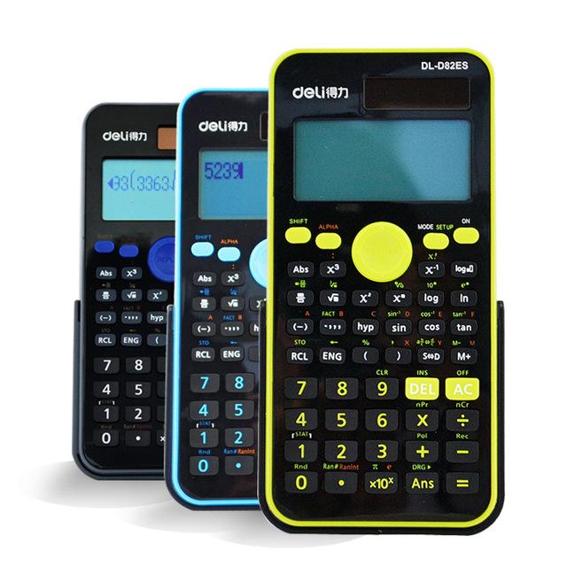 D82ES Calculadora Científica Calculadora Dual de la Energía Solar Power + Pilas de Monedas Envío Libre