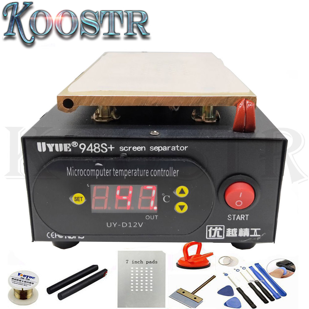110 220V Build in Vacuum UYUE 948S LCD Touch Screen Separator Machine Kit for iPhone Samsung