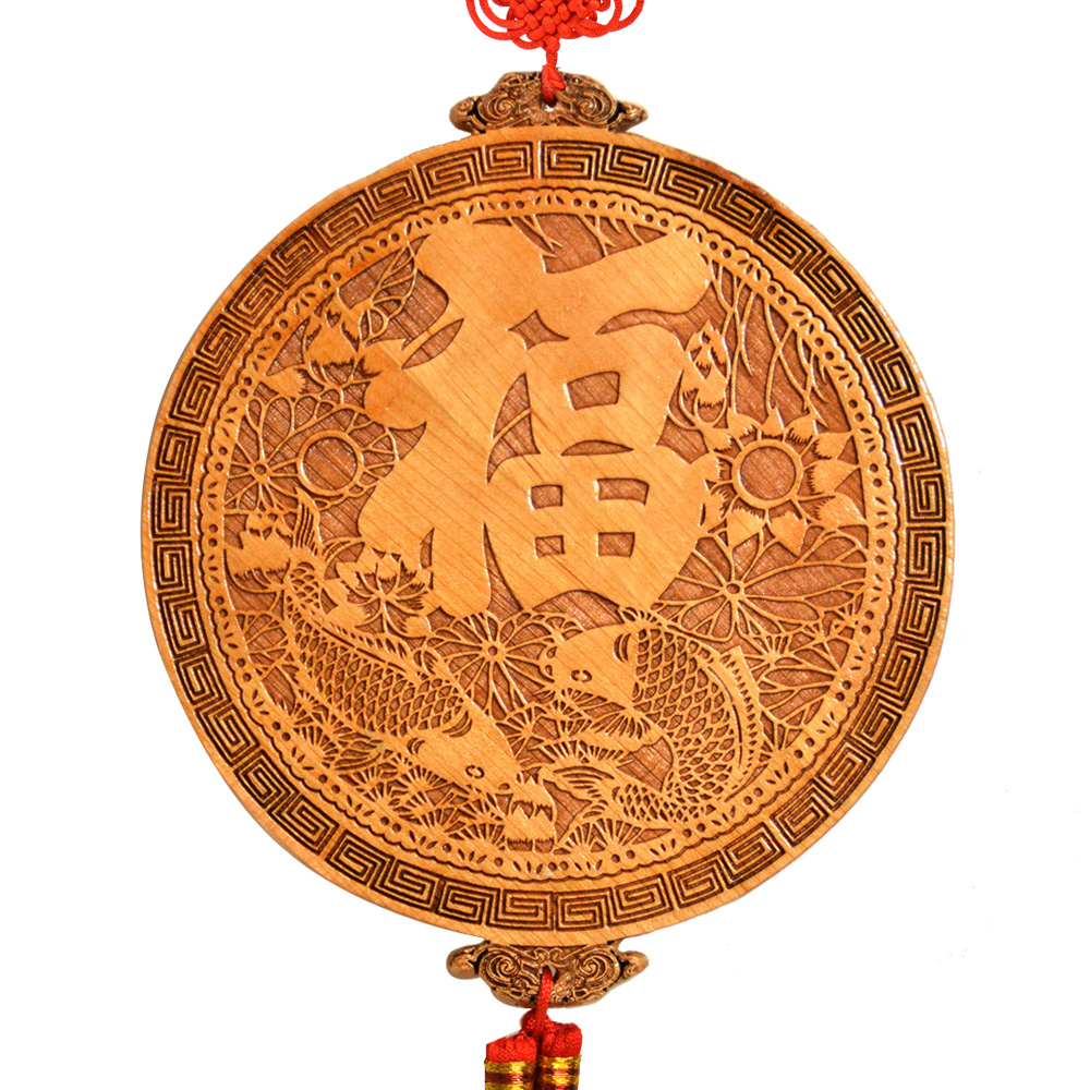 Feng shui bagua mirror light wood pendant strong resolve hall very rich fish living room drain - Mirror in hallway feng shui ...