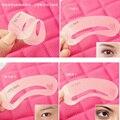 Nueva reutilización 3 Estilos Modelo Pintadas Cejas Grooming Kit de la Plantilla Forma DIY Belleza de Cejas Stencil Maquillaje Cejas Herramientas de Peinado